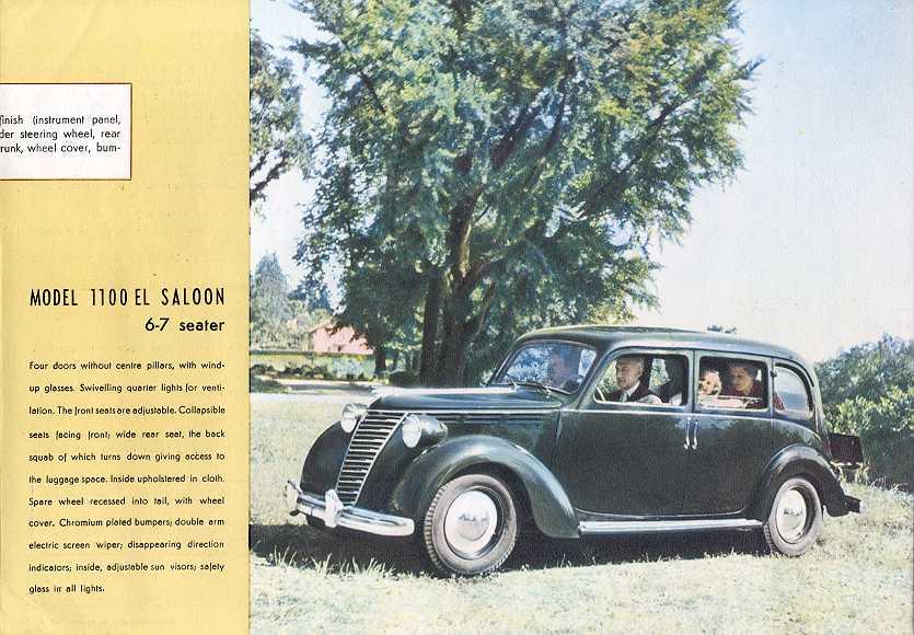 1949 Fiat 1100 E. Fiat 1100 EL 1400 5