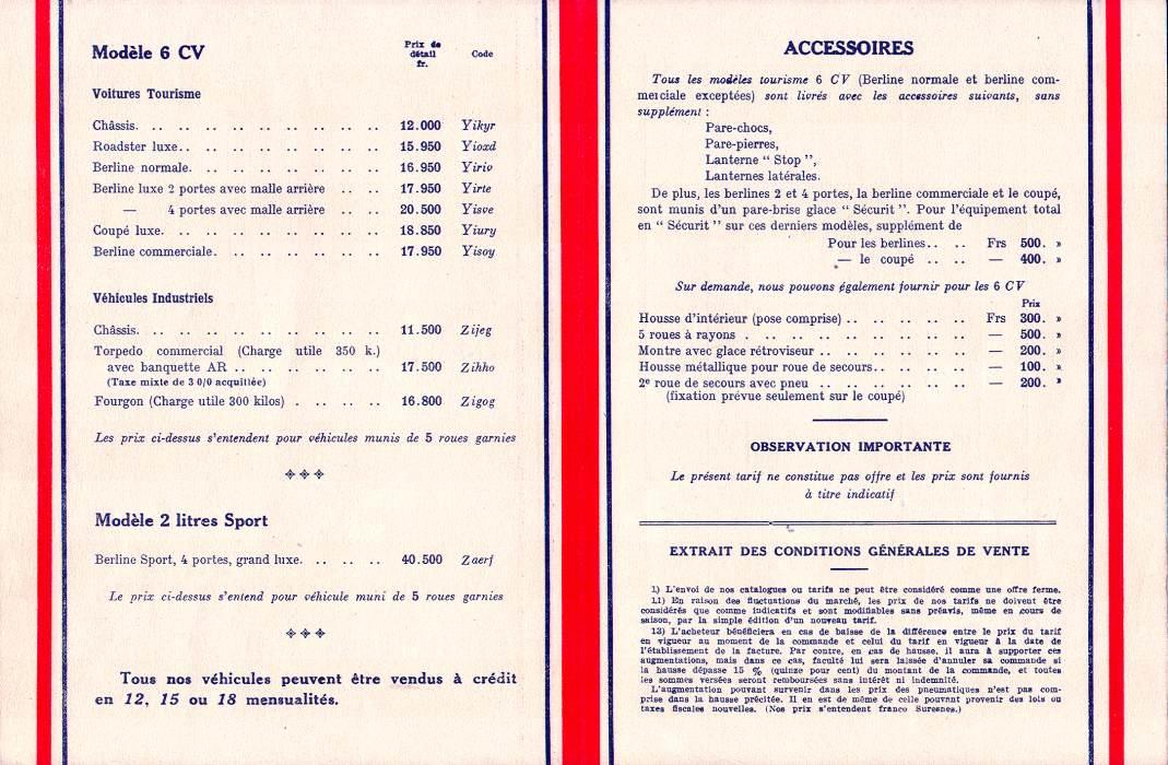 1933 Fiat 518 Ardita 2000. Fiat Balilla (6CV) und Ardita