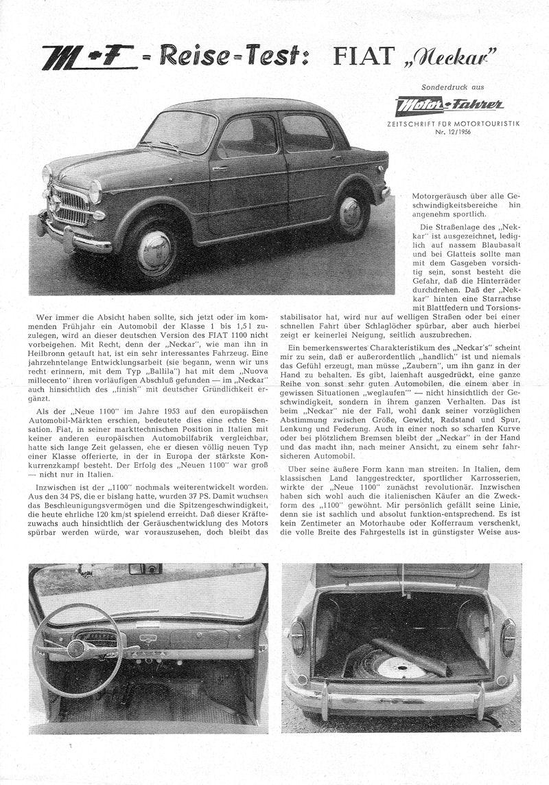 Fiat 1100 M / 103 E - 1956-57