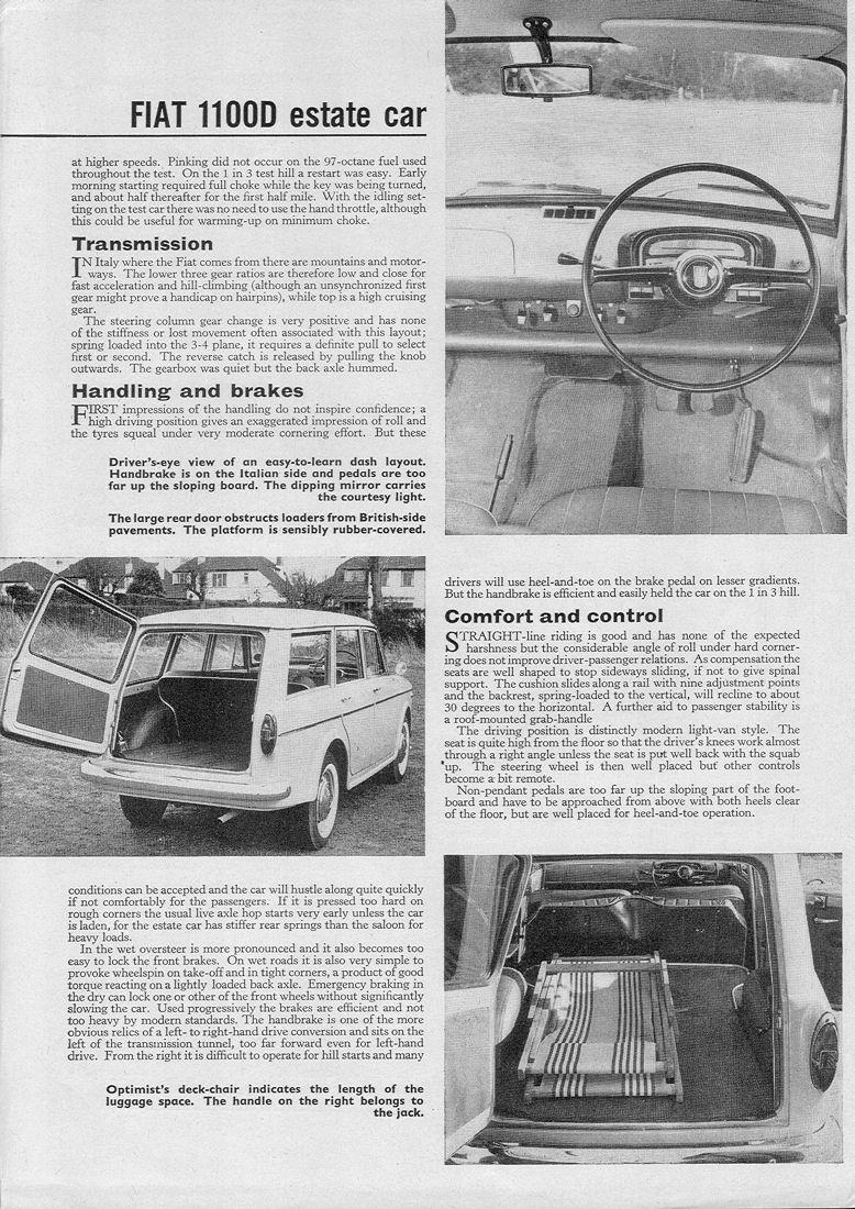 Fiat 1100 D, Typ 103 G - 1962-